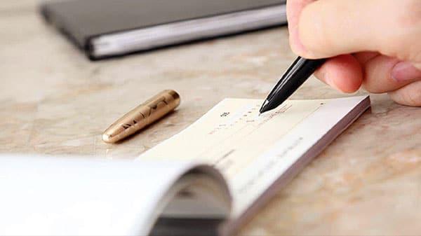 نحوه پشت نویسی چک